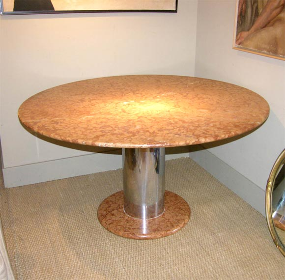 poltronova round marble dining table for sale at 1stdibs