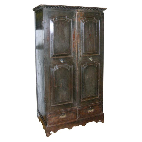 colonial painted armoire at 1stdibs. Black Bedroom Furniture Sets. Home Design Ideas