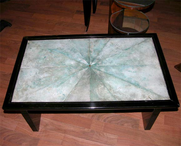 Mid-20th Century French Art Deco Shagreen Occasional Table For Sale