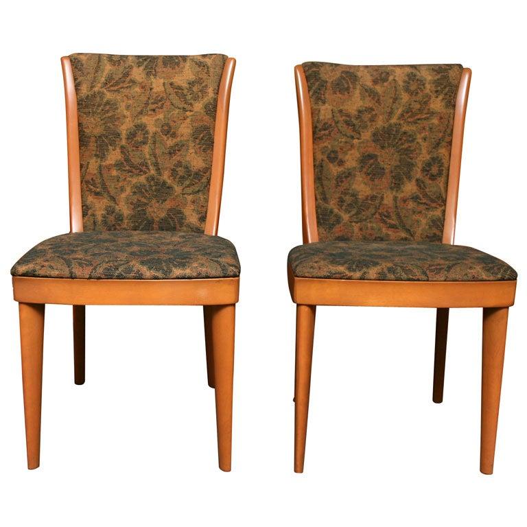 Four elegant heywood wakefield modern dining chairs at 1stdibs for Elegant modern dining room sets