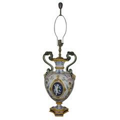 19th century Italian Ginori Lamp