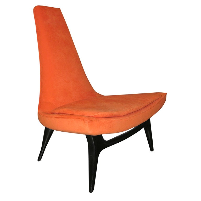 High Back Lounge Chair At 1stdibs