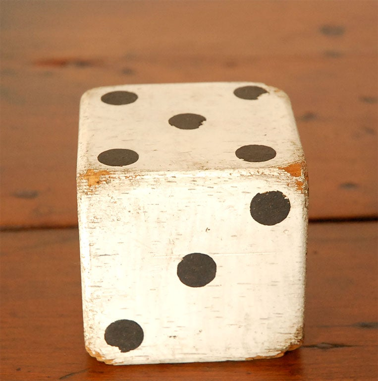 1930'S ORIGINAL WHITE PAINTED  DICES 4