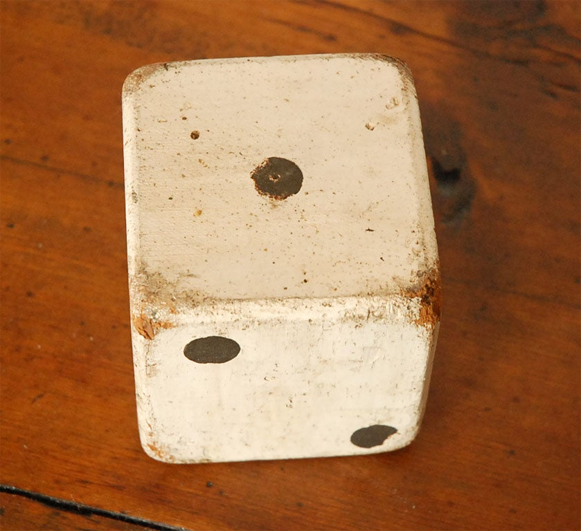 1930'S ORIGINAL WHITE PAINTED  DICES 8
