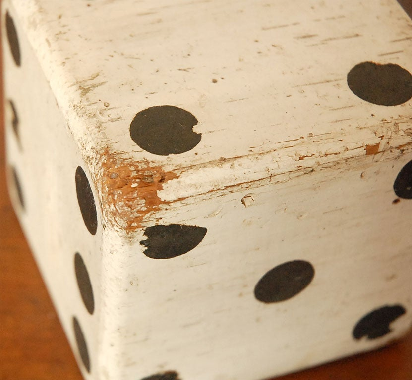 1930'S ORIGINAL WHITE PAINTED  DICES 9