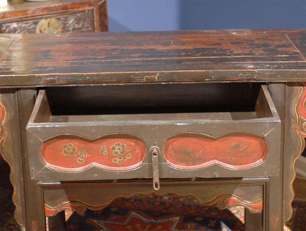 19th C Shanxi Painted Alter Table At 1stdibs