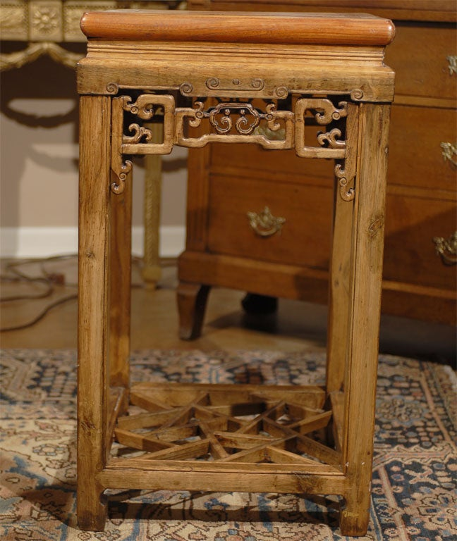 19th c beechwood square tea table with pull out drawer at for C table with drawer