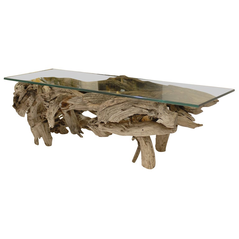 Driftwood Coffee Table At 1stdibs