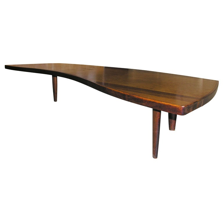 George Nakashima Sundra Free Form Coffee Table Mfg Widdicomb At 1stdibs