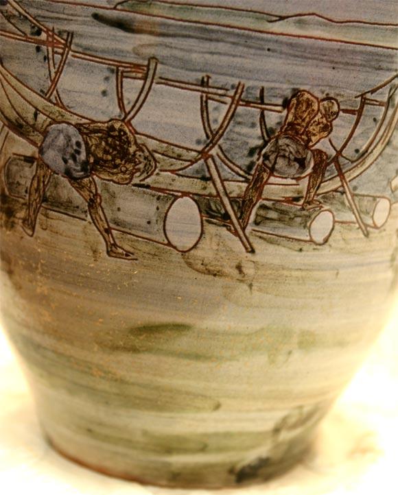 Large Ceramic Knabstrup Vase by Harald Folmer Gross For Sale 4