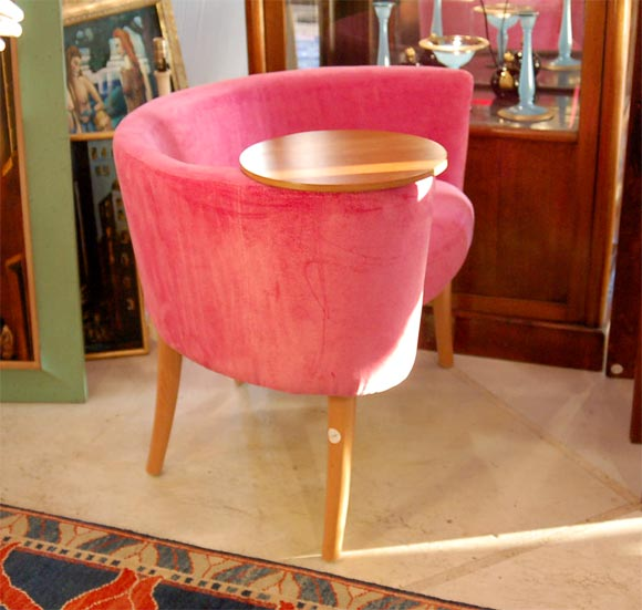 Post Modern Chair W Attached Telephone Table At 1stdibs