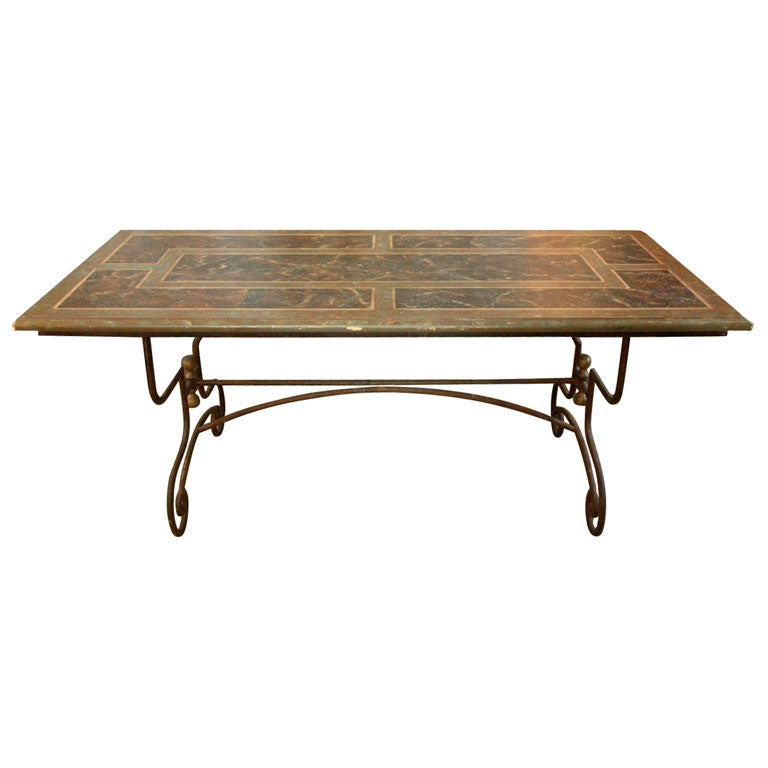 Faux Marbre Top Iron Base Table at 1stdibs : x from 1stdibs.com size 768 x 768 jpeg 35kB