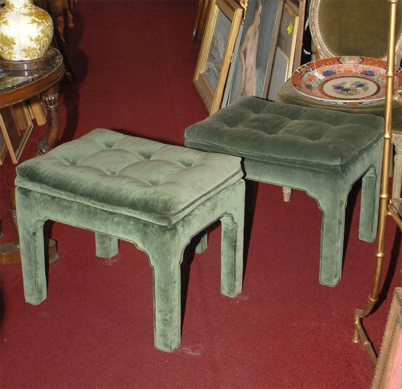 Pair Of Vintage Footstools At 1stdibs