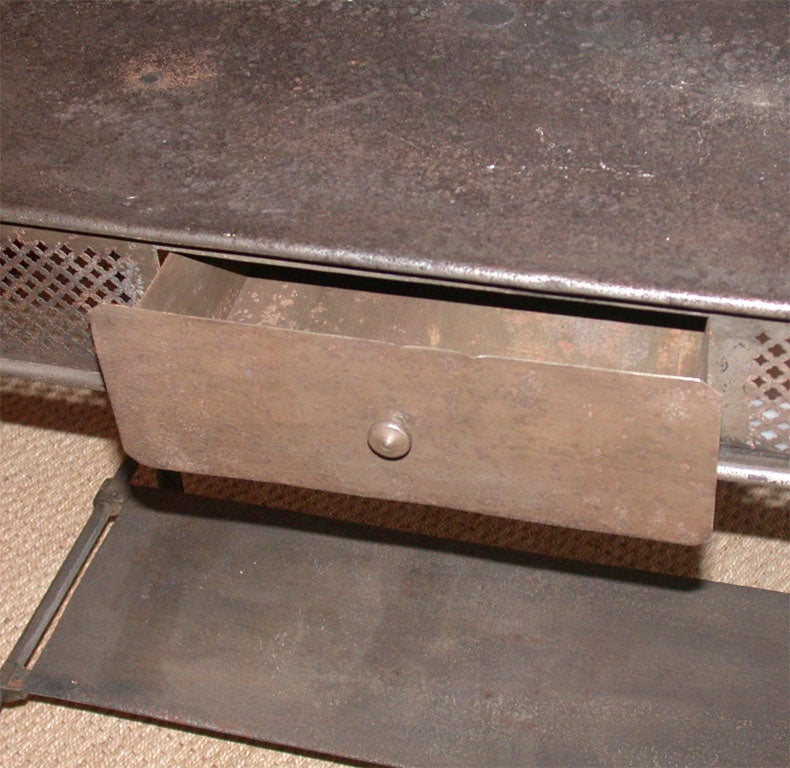 brushed steel washstand at 1stdibs