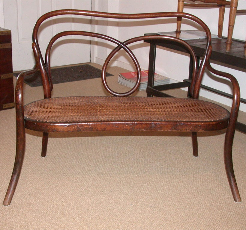 1920 S Thonet Style Child S Bentwood Bench At 1stdibs