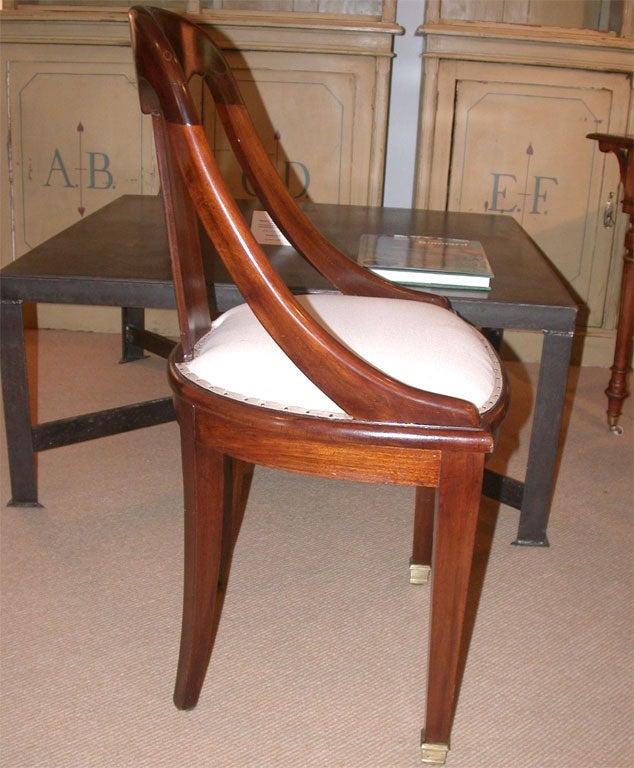 Mahogany Dining Room Furniture: Set Of Six 1940's Art Deco Mahogany Dining Chairs At 1stdibs