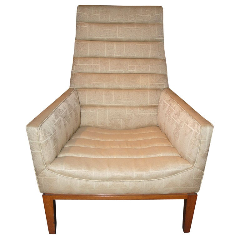 High-Back Lounge Chair by Edward Wormley for Dunbar