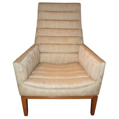 High-Back Mahogany Lounge Chair, Model 5961, by Edward Wormley for Dunbar