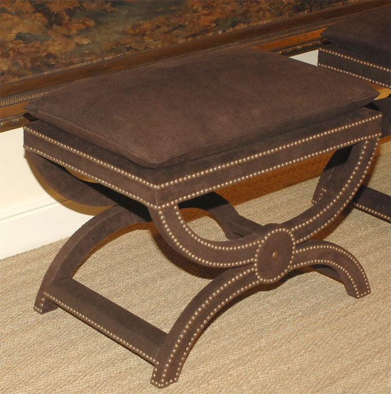 Candace Barnes Now Corona Chocolate Brown Leather Stool