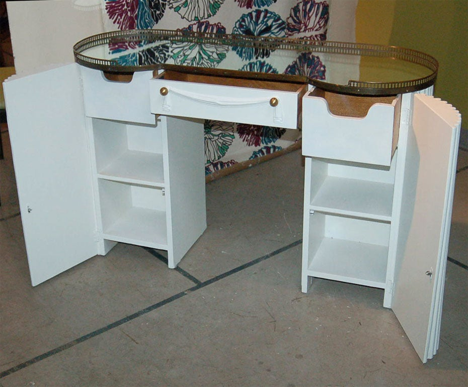 Fabric Dressing Table ~ Faux fabric dressing table by cassard at stdibs