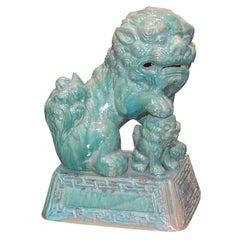 Tony Duquette Ceramic Foo Dog