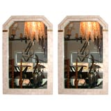 Pair of tessellated Mirrors