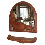 Carved Mirror with Shelf