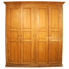 Large Italian faux grain painted wardrobe