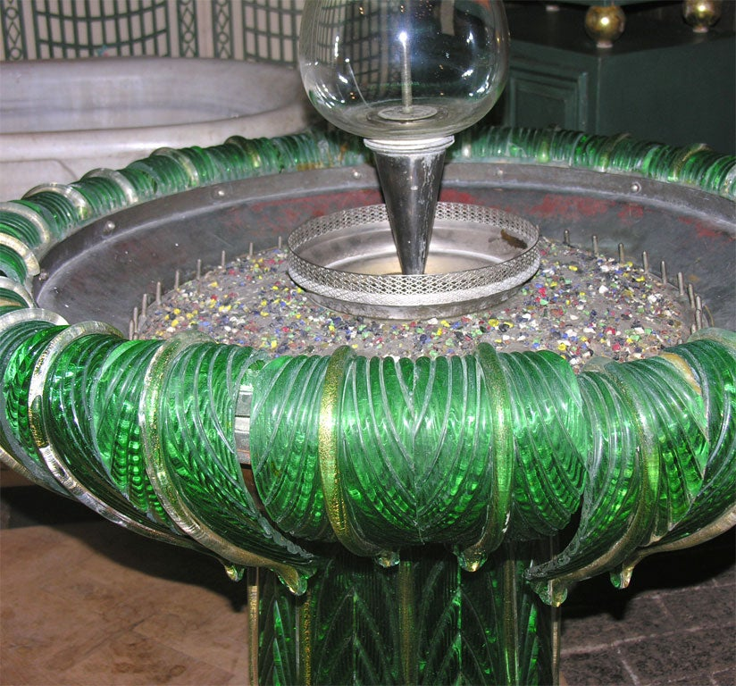 Mid-20th Century Venetian Murano Glass Fountain For Sale