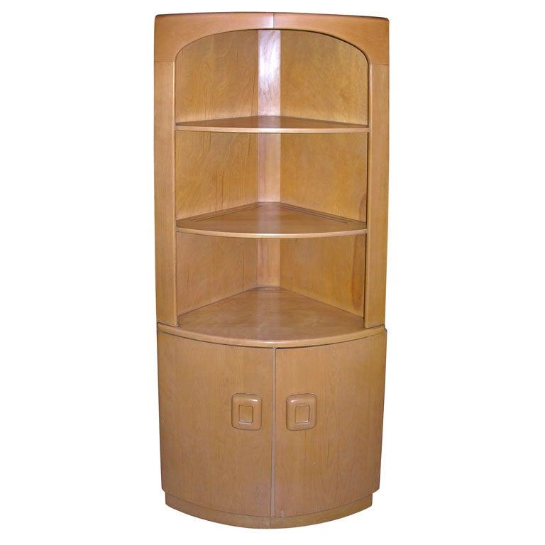Rare Pair Heywood Wakefield Corner Cabinets At 1stdibs