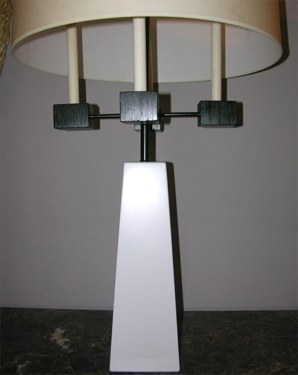 American Pair of Classical Modern Candelabra Table Lamps For Sale