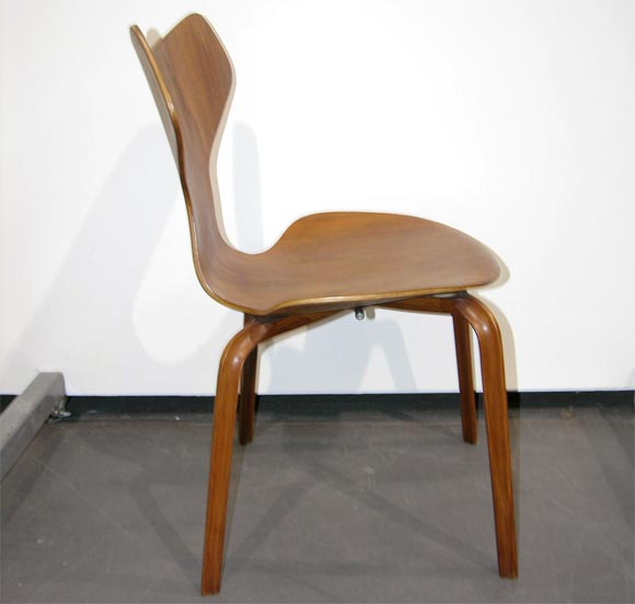 Set Of Six Grand Prix Chairs By Arne Jacobsen At 1stdibs
