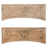 Pair of Louis XV limed pine architectural fragments