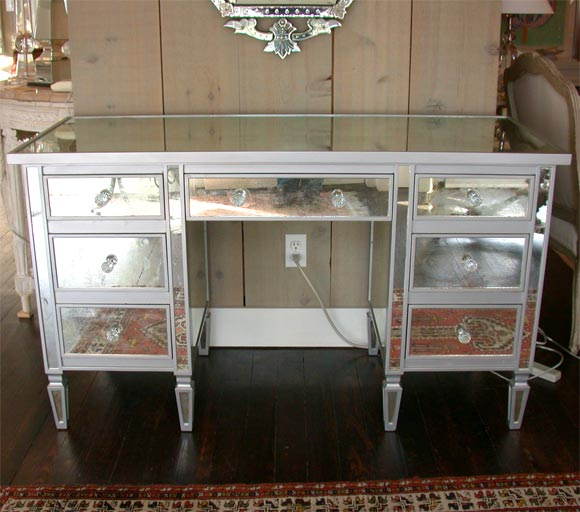 drawer mirrored vanity desk at 1stdibs