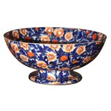 Ridgways Footed Punch Bowl-Imari Colors