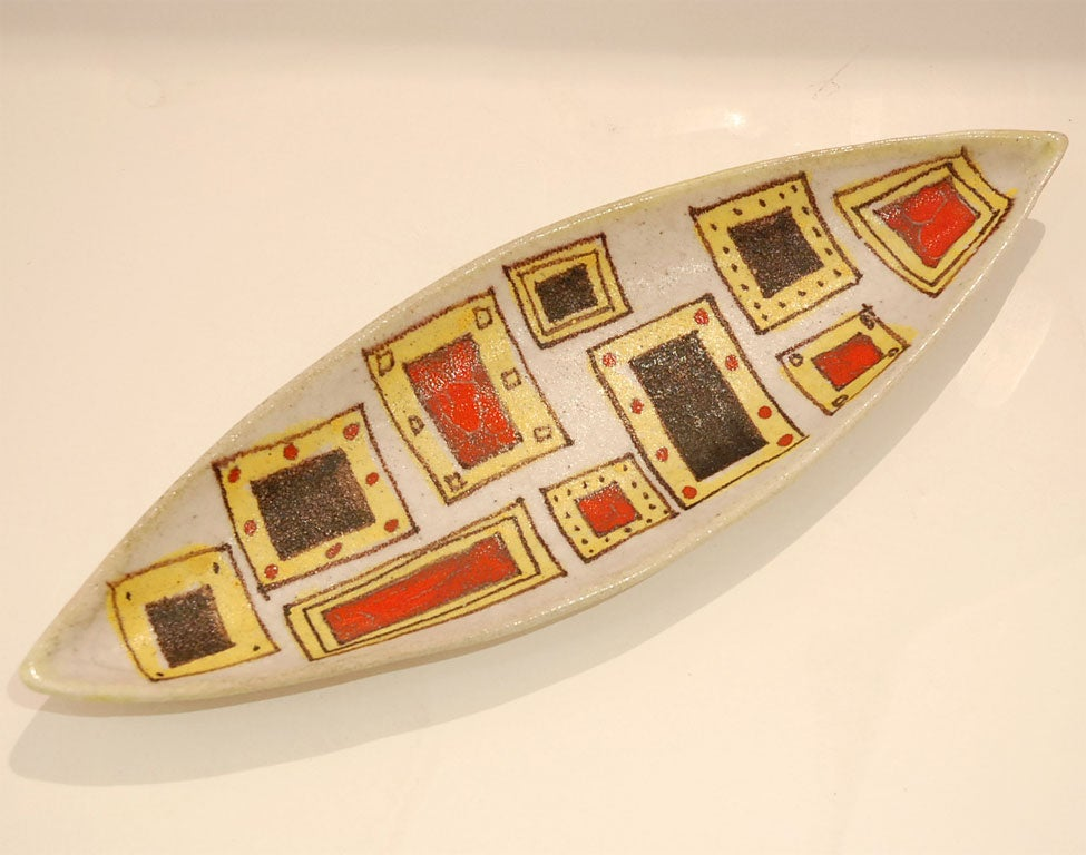 Guido Gambone Signed Ceramic Platter