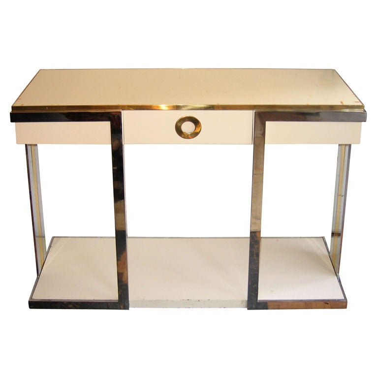 1970s White Lacquer Console Table At 1stdibs