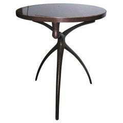 """""""Atlante"""" Bronze and Stone Table by Alexandre Logé"""