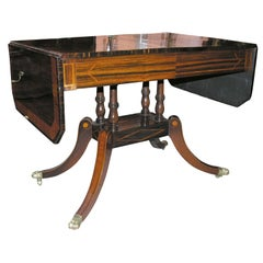 Regency Calamander Satinwood Inlaid Sofa Table, circa 1810