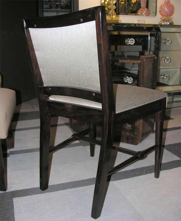 Mid Century Modernist High Back Or Desk Chair W New: Mid-Century Modernist Desk/Occasional Chair At 1stdibs