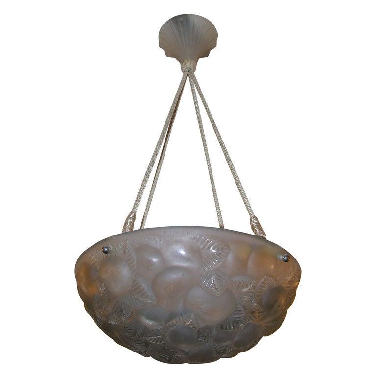 """R. Lalique """"Lausanne"""" Chandelier"""