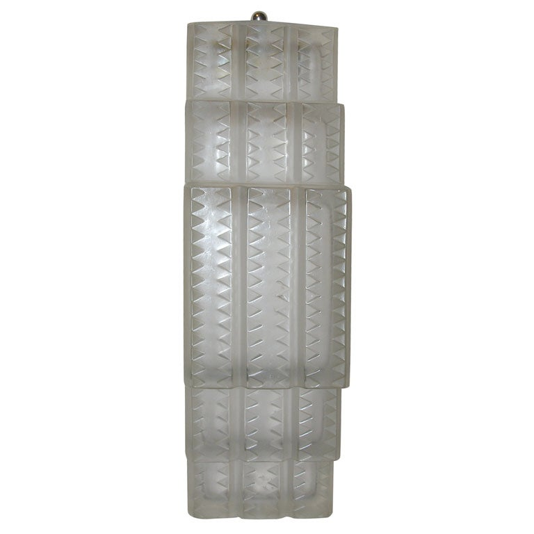 """R. Lalique """"Flandre"""" Wall Sconce For Sale"""