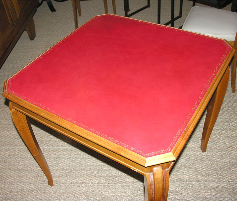 Art Deco Card Table and Chairs at 1stdibs