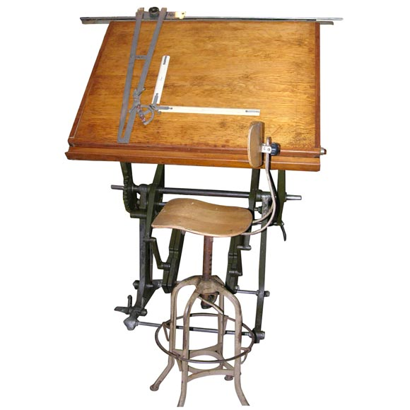 An Incredible 19th C Architect S Drafting Table At 1stdibs