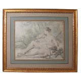 Framed Print of Nude and Cherub