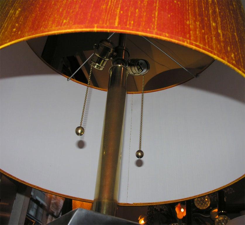 Floor Lamp Mid-Century Modern Sculptural Polished Steel, 1970s For Sale 2