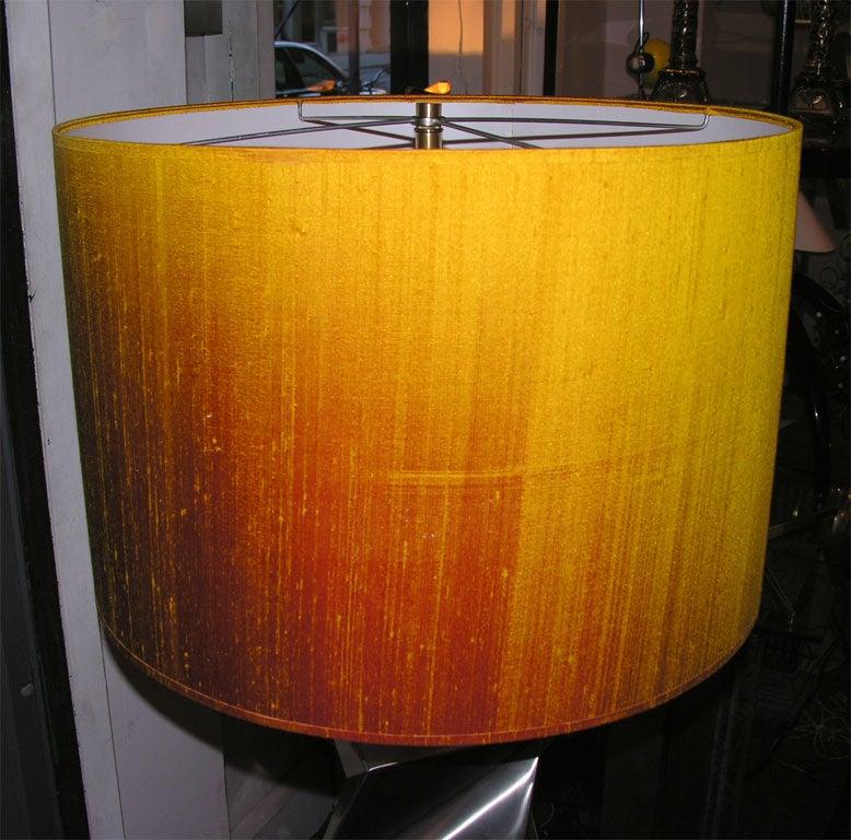 Floor Lamp Mid-Century Modern Sculptural Polished Steel, 1970s For Sale 3