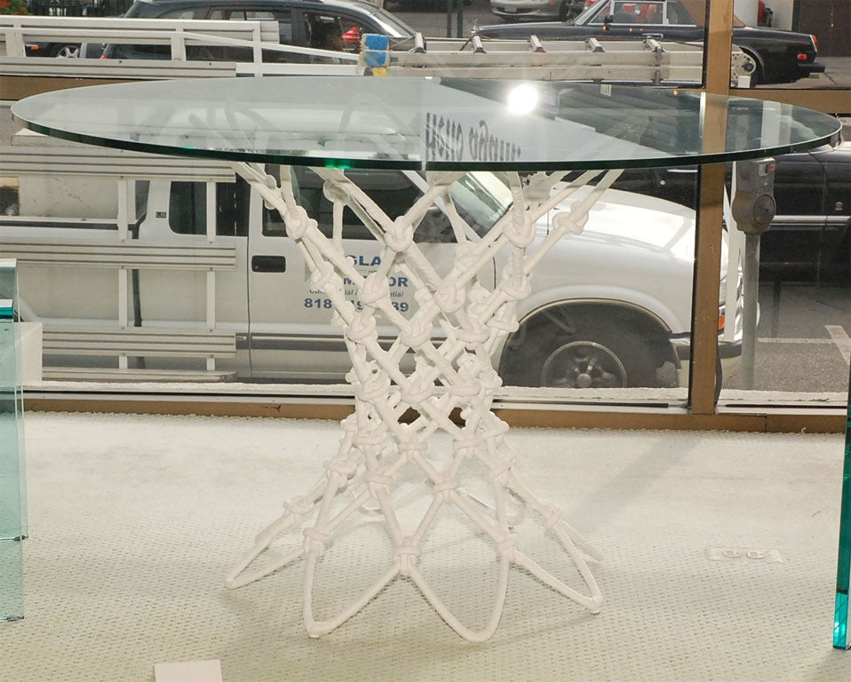 Knotted table.  <br />