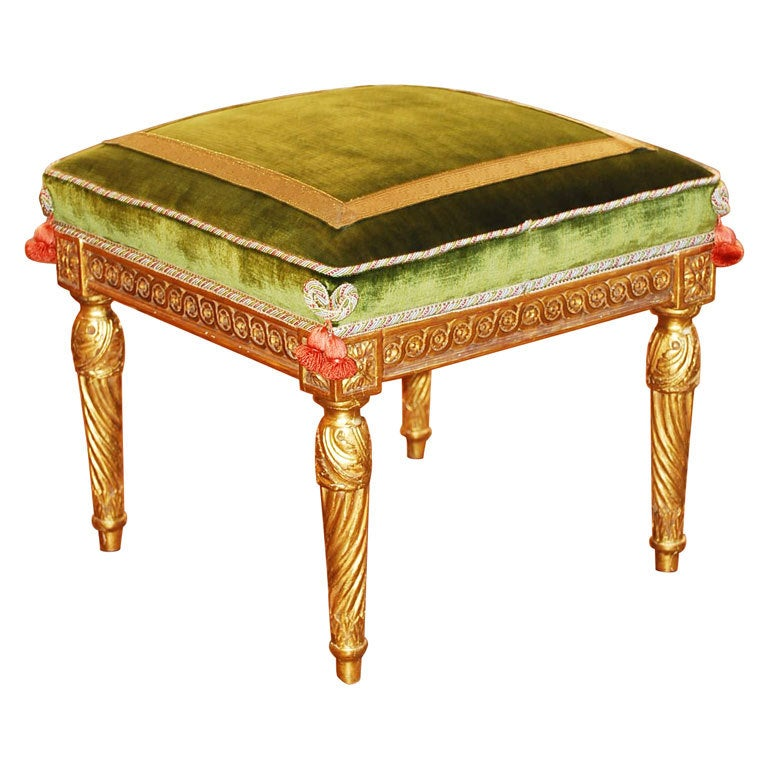 Louis Xvi Giltwood Stool Attributed To Jacob At 1stdibs