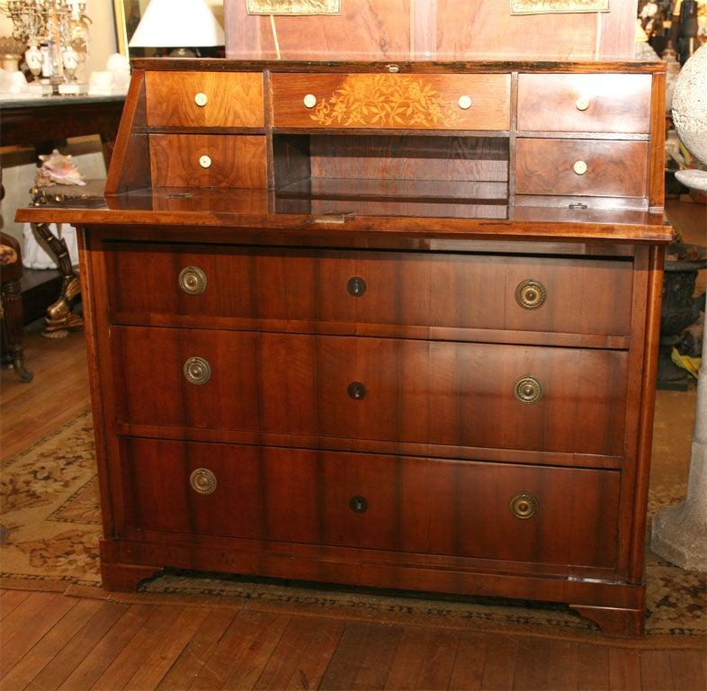 German Biedermeier Slant-Front Desk In Excellent Condition For Sale In Hudson, NY